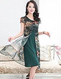DESY Tubino Vestito da Donna-per Uscire Taglie Forti Semplice con Stampe  Rotonda Medio Manica 03fc9ab45f2
