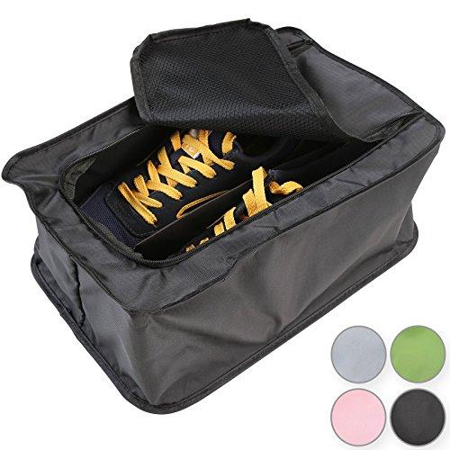 Jago Borsa da viaggio organizer per 3 paia di scarpe per valigia colore a scelta (nero)