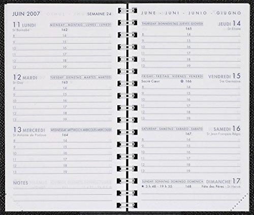 Agenda moderno–1ricarica di Agenda Settimanale hebdoplan di janv 2016a janv 2017–Int 2201formato 9x 15cm