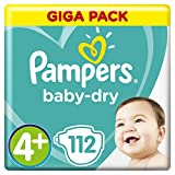 Pampers Baby Dry Gr.4+ Maxi Plus 9-18kg Giga Pack