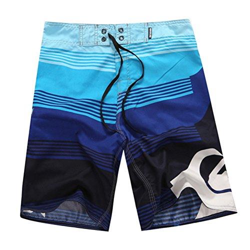 Herren Badeshorts Beachshorts Boardshorts Badehose Strand Männer Surfshorts Für Surfen Pool Schwimmen Blau 34