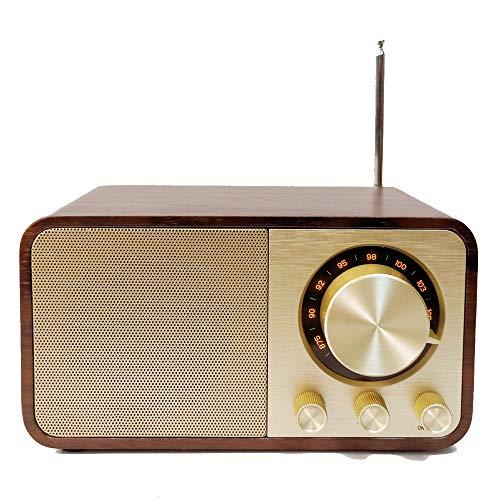Antiguo Clásico Retro Antiguo Radio FM Altavoz Bluetooth Incorporado Mp3 Music Decoder...