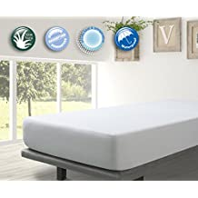 Protector Rizo impermeable para colchon de 150x190/200. Rizo algodón 100% con tratamiento de Aloe Vera