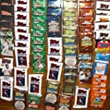 50 Original Unopened Packs of New & Vintage Baseball Cards (1986-2010) PLUS Pack 100 Soft Sleeves by Rookies HQ