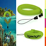 iGadgitz 1 Pack Standard Green Waterproof Floating Wrist Strap suitable for Fujifilm FinePix XP Series Tough XP10, XP20, XP30, XP50, XP51, XP60, XP80, XP90, XP150, XP170, XP200 Cameras