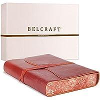 Venezia Romantica Diario/Taccuino in Pelle, Realizzato a mano da Artigiani Toscani, Include Scatola Regalo (12x17 cm) Rosso
