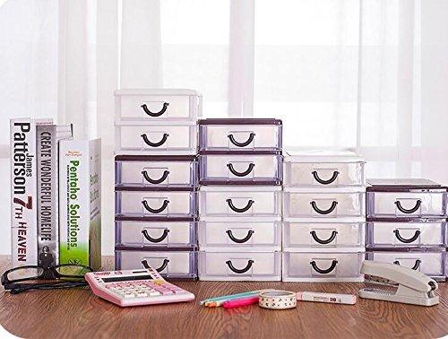 Großhandel 2 Schublade (Generic Braun 2Layer: Alice, Kunststoff Schubladen für Aufbewahrung, kleine Objekte Cosmetics Box machen Desktop Organizer)