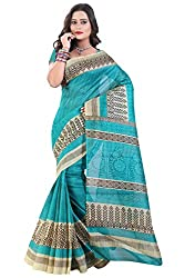 Glory Sarees Women's Bhagalpuri Art Silk Cotton Sarees(saree9_Blue)