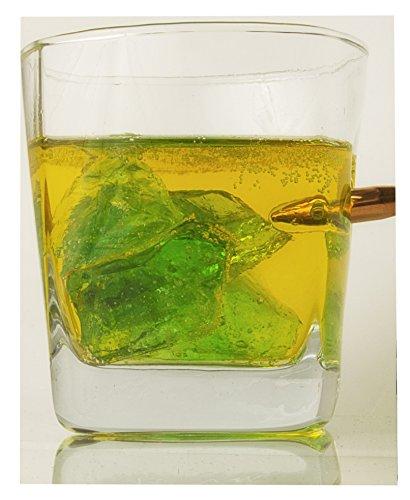 Regalos de Navidad para hombres Whisky vaso con real proyectil calibre 308