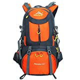 Outdoor Backpack, WLM 50L Waterproof Sport Rucksacks, Large Climbing Knapsack for Hiking/Camping/mountaineering/Trekking/Traveling (Orange)
