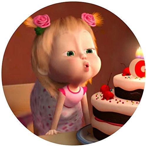 Tortenaufleger Tortenfoto Aufleger Foto Bild Mascha und der Bär (21) rund ca. 20 cm *NEU*OVP*
