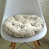 SYT Cushion Baumwoll- und Leinenkissen Tatami Rundkissen Bürokissen gepolsterter Stoff, 48 cm, Schlichtes Blumenmuster