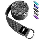 Umi. Essentials - Cinturón para yoga con libro electrónico de regalo, 1,8 m (gris)