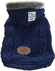 FOONEE Hundemantel Wintermantel Hundejacke Hundepullover Hundekleidung mit Kapuze für Kleine Mittlere Große Hunde