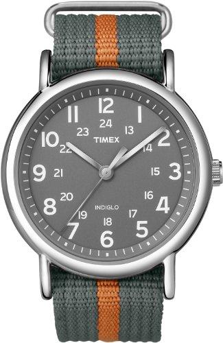 timex-unisex-grey-and-orange-weekender-watch-t2n649