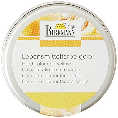Birkmann 503038 Lebensmittelfarbe, konzentriertes Pulver, 10 g, gelb Gelbe 10