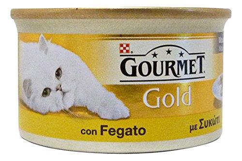 GOURMET GOLD Mousse con fegato umido gatto gr. 85 - Mangimi umidi per gatti