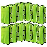 12 pacchetti Maglie a righe traspiranti adulti grande calcio scremato gilet per pallavolo pallacanestro