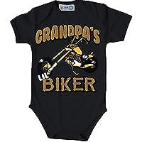 USA motivo grandp Aas Biker Baby body Bio–Body a maniche corte per motociclisti Bebè