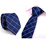 Cravate des hommes, GreatestPAK nouvelle cravate mince mince occasionnelle de mariage de partie de cou d'affaires (C, 145*6*3.8cm)