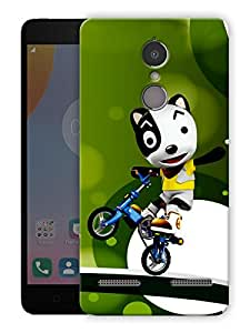 "Humor Gang panda riding bike Printed Designer Mobile Back Cover For ""Lenovo k6"" (3D, Matte Finish, Premium Quality, Protective Snap On Slim Hard Phone Case, Multi Color)"