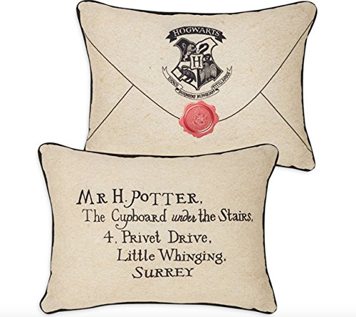 Harry Potter – carta de color beige cojín 30 cm x 40 cm