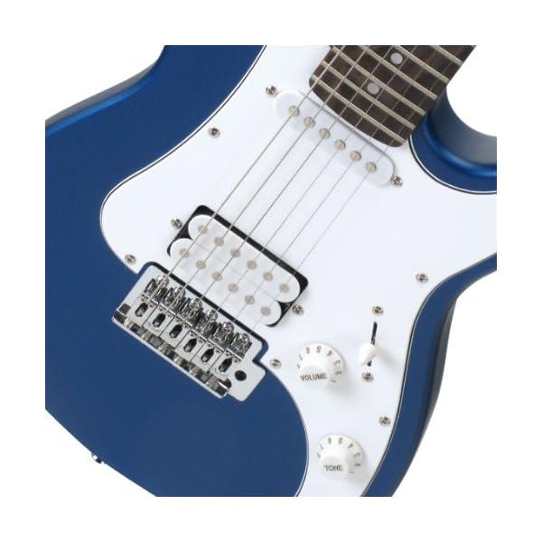 Rocktile Sphere - Chitarra elettrica 3/4 per bambini, battipenna bianco, 1 humbucker, 1 single coil, 22 tasti, tastiera in palissandro, manico in acero