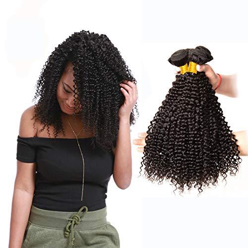 Lvy capelli umani capelli brasiliani vergini 3 fasci di capelli umani ricci extension tessitura capelli veri totale 300g 50 55 60 cm