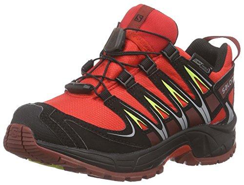 Salomon Unisex-Kinder Xa Pro 3d Cswp Trekking-& Wanderhalbschuhe Rot (Bright Red/Black/Flea)