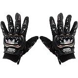 Guantes Talla XXL para Moto con PROTECCIÓN Motocross Motocicleta Quad Enduro (Negro)