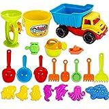 AMITas 21St. Sandspielzeug Mädchen Sandspielzeug Junge Sandkasten Spielzeug Strand Spielzeug Sommer Kinder Sandstrand Fahrzeug Strand-Werkzeuge Set für Kinder ab 2 Jahre - DE5001