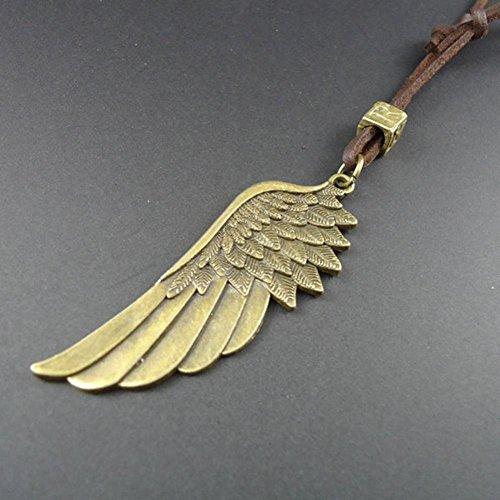 GYJUN Collana del pendente di modo di angelo ali Multicolor in pelle (1 Pc)