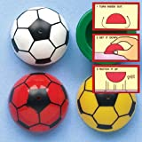 Mini Soccer Football Jumping Poppers Party Bag Filler for Children to Play With Ideas for a Small Gift (Pack of 12)