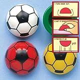 Mini-Fußball-Popper - Spielzeug für Kinder als Mitgebsel und Preis für den Kindergeburtstag (12 Stück)