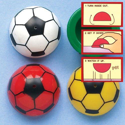 Saltadores en forma de balón de fútbol, perfectos para bolsas sorpresa o como ideas de regalo para fiestas infantiles (pack de 12).
