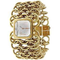 Roberto Cavalli Reloj mujer braccialato chapado en oro con cristal