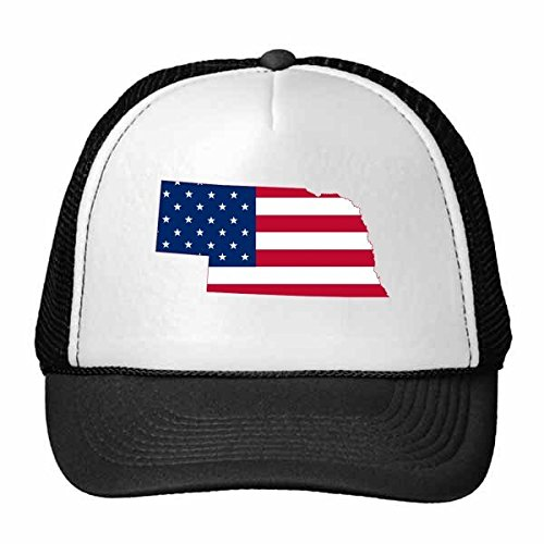 DIYthinker Die Vereinigten Staaten von Amerika USA Nebraska Karte Amerikanische Flagge Flagge Form Baseballmütze Baseballmütze Nylon-Mesh-Kühler Hut justierbare Kappe Kinder