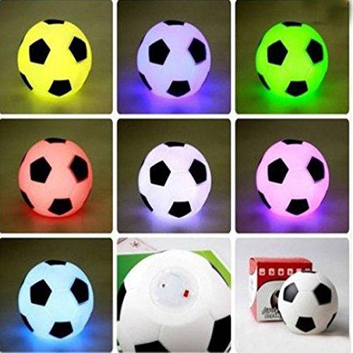 Preisvergleich Produktbild SOLMORE LED Colorful Football Fußball Lampe Nachtlicht Schreibtischlampe Schreibtischleuchte Büroleuchte Leselampe Tischlampe Nachttischlampen Buchlampe Laptoplampe Tischleuchte Stimmungslicht