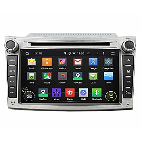 Android 6.0 Octa Core 1024 * 600 DVD de voiture Navigation GPS lecteur multimédia stéréo de voiture pour Subaru Legacy/Outback 2009 2010 2011 2012 radio Commande au volant avec 3 G WiFi Bluetooth carte SD gratuit 7Pouces
