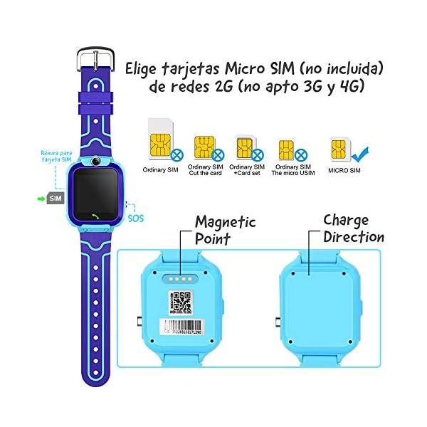 NAIXUES Smartwatch Niños, Reloj Inteligente Niño IP67, LBS, Hacer Llamada, Chat de Voz, SOS, Modo de Clase, Cámara… 7