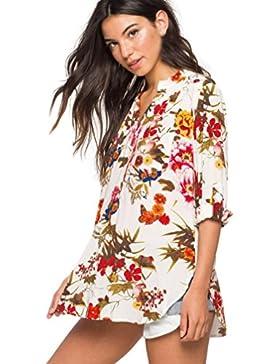 blusas La mujer casual sexy cuello en V Camisas de manga larga. Plaid Shirt Tops zycShang