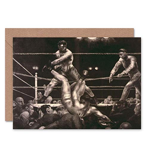 Wee Blue Coo LTD Sport Boxing Jack Dempsey Luis Firpo Polo New York Sealed Greeting Card Plus Envelope Blank Inside
