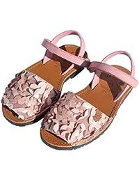 Menorquinas POPA - Sandalias de Vestir para Niña Rosa Rosa