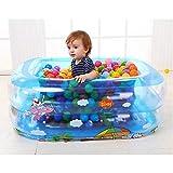 MYXMY Aufblasbares Kinderbecken, Cute Shark Kids Swimming Pool Sommer Wasser Spaß Badewanne, for...