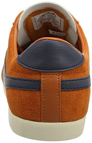 Scamosciata Proiettile In Arancione Homme Cestini arancione Blu Pelle Gola qtUzWT11