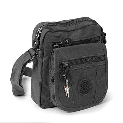 - Geldbeutel-handy-tasche (Handtasche / Schultertasche / Umhängetasche klein grau)