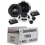 Ford S-Max/Galaxy Front oder Heck - Hifonics Triton TR 6.2C - 16cm Komposystem Lautsprecher - Einbauset