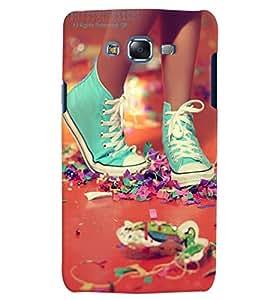 Citydreamz Blue Shoes Hard Polycarbonate Designer Back Case Cover For Samsung Galaxy J5