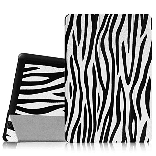 Fintie Dell Venue 8 Pro (Windows 8.1) Hülle Case - Ultra Schlank Superleicht Ständer SlimShell Cover Schutzhülle Etui Tasche für Dell Venue 8 Pro 5000 Series / New Venue 8 Pro 3000 Series (2014) Windows 8.1 tablet, Zebra Schwarz