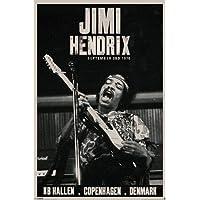 1art166294Jimi Hendrix Poster–Live Tour, Copenhagen 1970(36x 24inches)